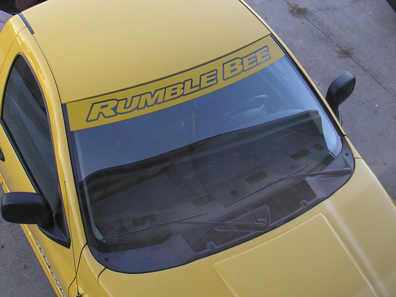 Windshield banner decal fits dodge ram rumble bee daytona